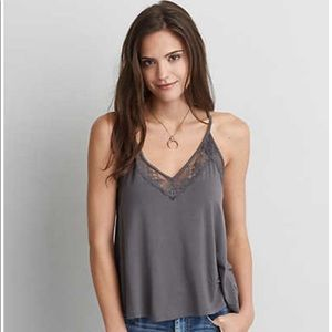 AEO 🦅 Soft & Sexy Lace Racerback Tank Top